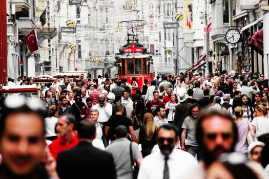 Crowd day istanbul istiklal Free Photo