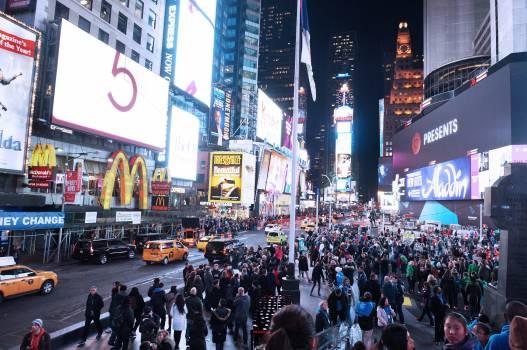 America billboards buildings busy #77997