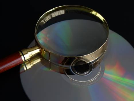 Cd data search magnifying glass search Free Photo