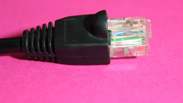 Close up computer computer accessories connecting cable Free Photo
