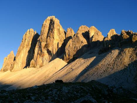 Abendstimmung dolomites mountain world mountains #78521