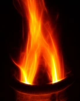 Abstract bright burn camping Free Photo