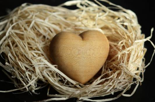 Filling heart light brown natural materials Free Photo