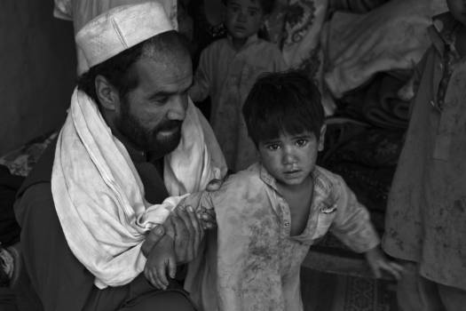 Afghanistan child daddy dirty Free Photo