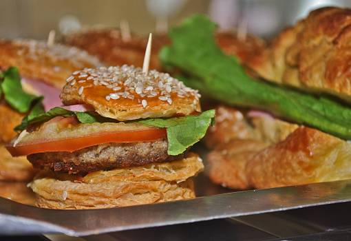 Burger cafe cholesterol coffee Free Photo