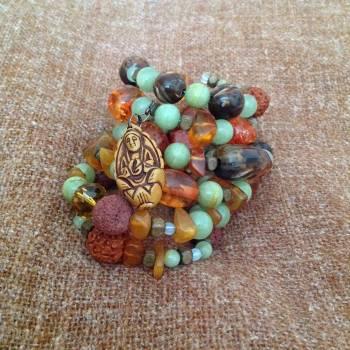 Boho bracelet sleeping fairy #79580