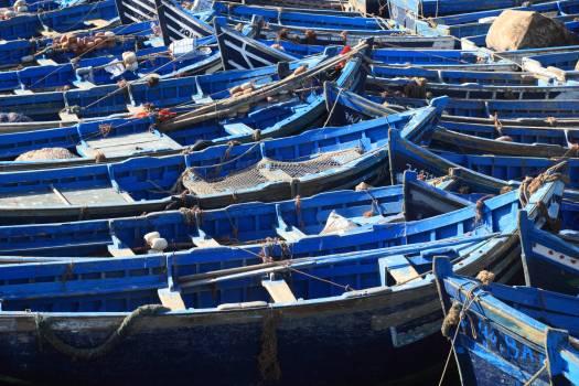 Boats essaouira fishing morocco Free Photo