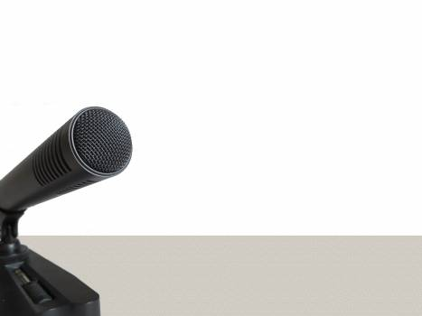 Audio background microphone recording Free Photo