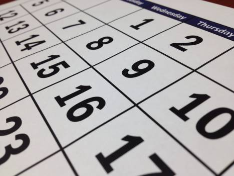 Black calendar close up composition #80794