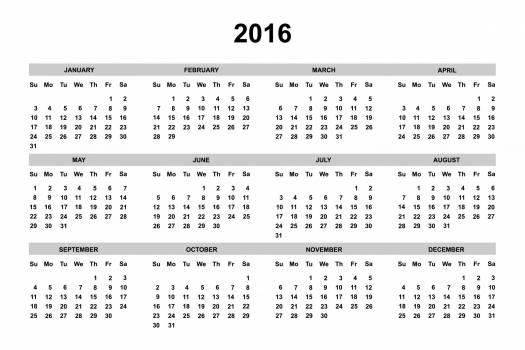 2016 2016 calendar annual april Free Photo