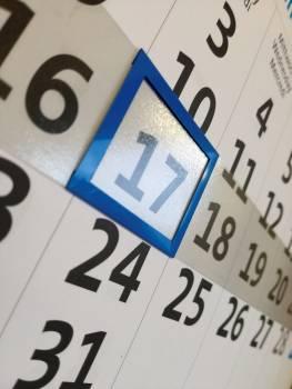 Calendar date office planning #80898