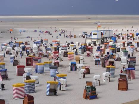 Beach borkum clubs holiday Free Photo