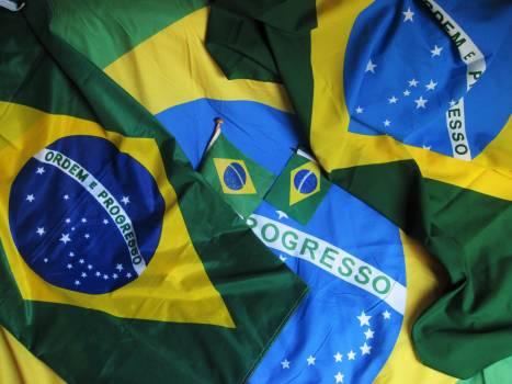 Brazil brazilian flag decoration flag Free Photo