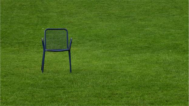 Alone blank break chair Free Photo