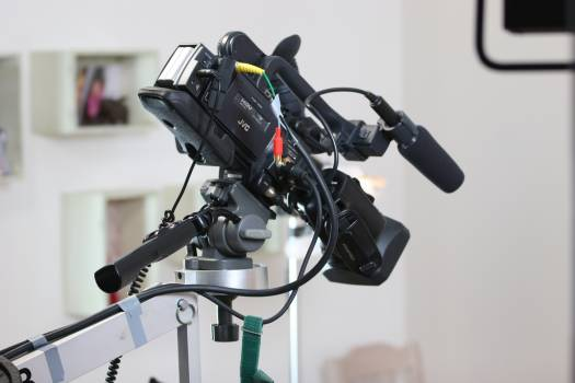 Advertising film battery camera camera crane Free Photo