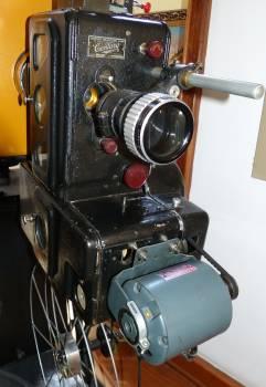 Analog camera cinema demonstration Free Photo