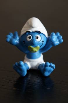 Baby blue white cartoon cartoon character #82631