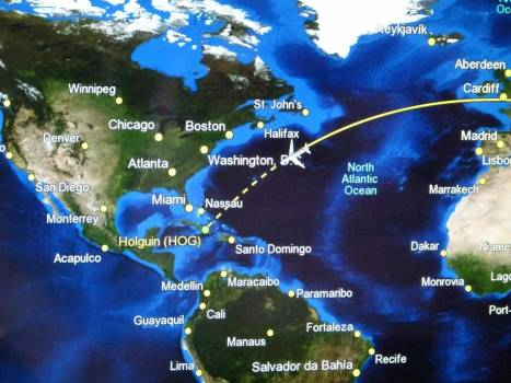 Ad aircraft display flight route Free Photo