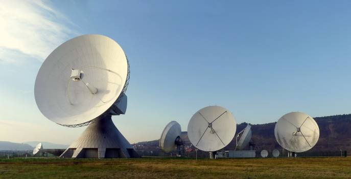 Antennas broadcast delivery earth station #82676