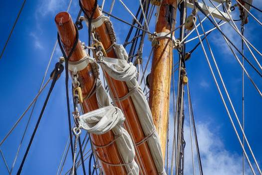 Delfsail mast rope sailing boat Free Photo