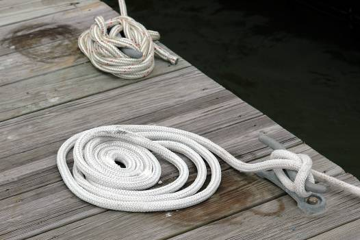 Boat mooring boating cord deck Free Photo