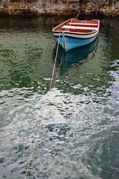 Boat calm harbour ripples Free Photo