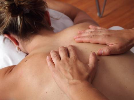 Back massage physiotherapy Free Photo