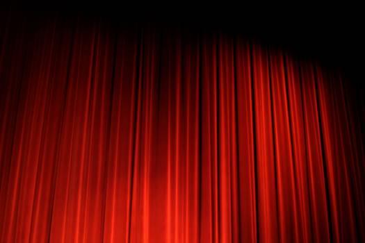 Cinema curtain curtain on decorative Free Photo