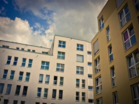 Apartments architecture buildings clouds Free Photo
