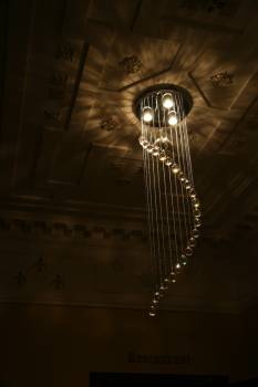 Architecture bright ceiling chandelier Free Photo