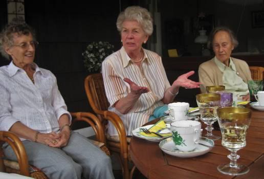 Aunts birthday party coffee table elderly women #84244
