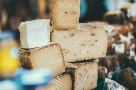 Aged cheese close up dairy product Free Photo