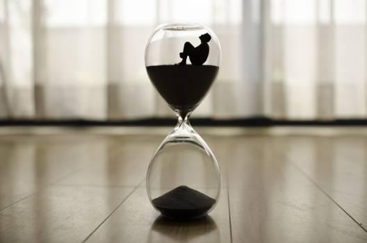 Antique watch clock hour hourglass Free Photo