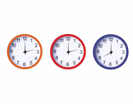 Blue clock free image orange Free Photo