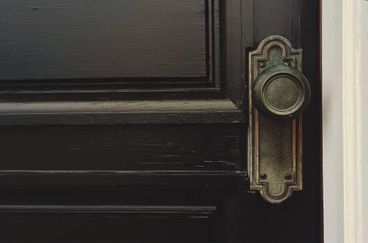 Antique door house knob Free Photo