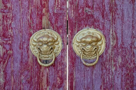 Building door door handle mahogany Free Photo