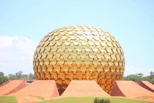 Auroville globe india meditation Free Photo
