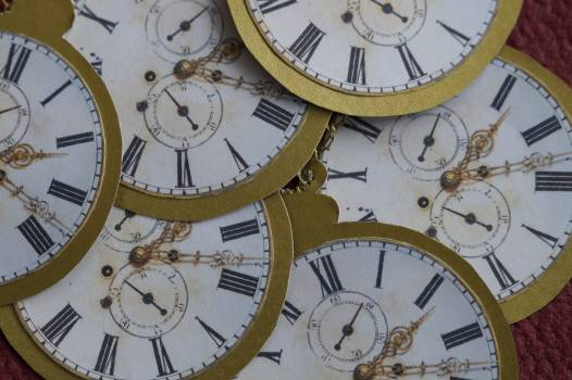 Antique cardboard chaos clock #85159