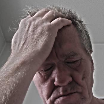 Burnout face hand headache Free Photo
