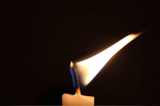 Burning candle candlelight flame Free Photo