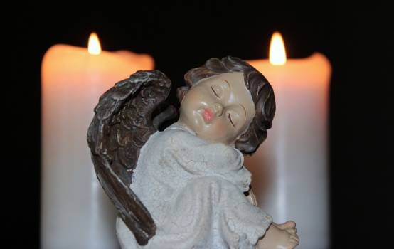 Angel angel face candlelight candles #85681
