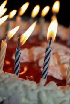 Cake candles celebration colors Free Photo