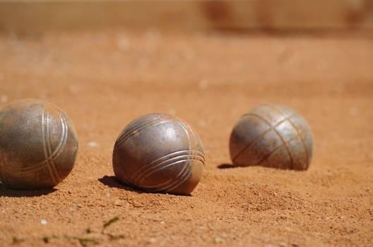 Balls game petanque sand Free Photo