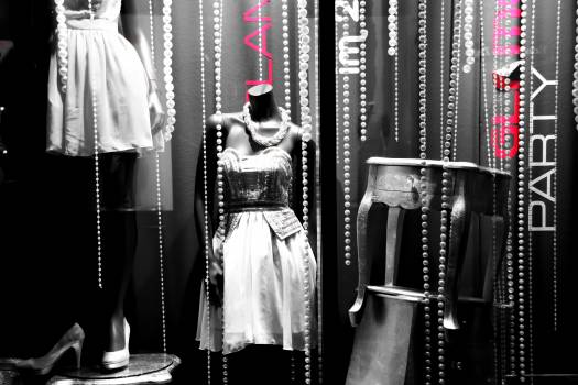 Decoration department stores display dummy doll Free Photo