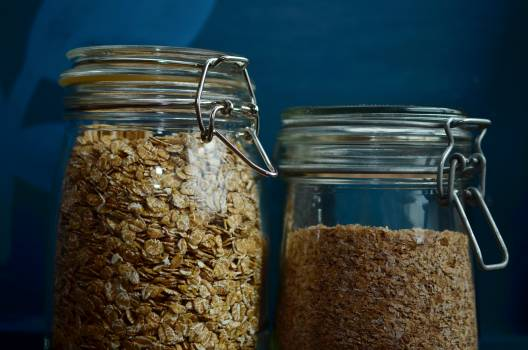 Cereals closure glass jar Free Photo