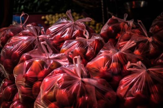 Bag color food market Free Photo
