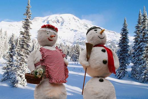 Snow snowmen winter winter dream Free Photo
