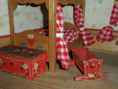 Antique bauer bemalung bedroom children #86643