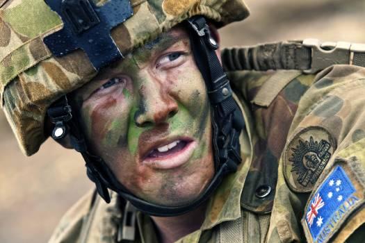 Australian camouflage male military Free Photo