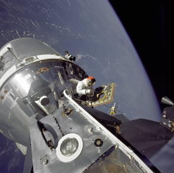 Apollo 9 astronautics command module earth Free Photo